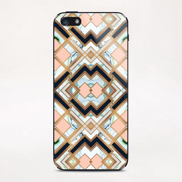 Art deco geometric pattern iPhone & iPod Skin by mmartabc