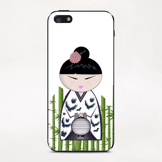 Bamboo kokeshi iPhone & iPod Skin by PIEL Design