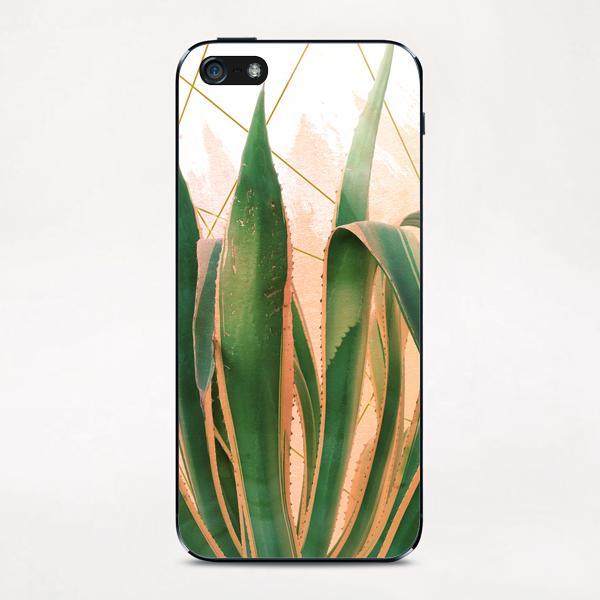 Cactus with geometric iPhone & iPod Skin by mmartabc