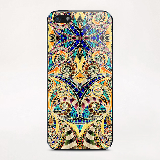 Drawing Floral Zentangle G1 iPhone & iPod Skin by MedusArt