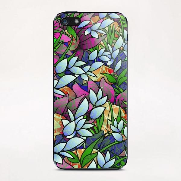 Floral Abstract Artwork G464 iPhone & iPod Skin by MedusArt