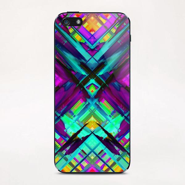 Colorful digital art splashing G472 iPhone & iPod Skin by MedusArt