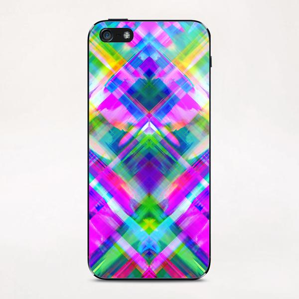 Colorful digital art splashing G469 iPhone & iPod Skin by MedusArt