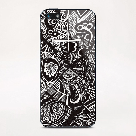 Mandala personnel iPhone & iPod Skin by Denis Chobelet
