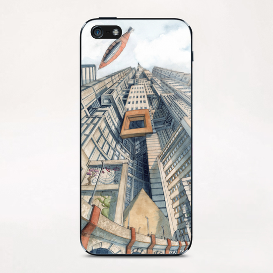 Downtown iPhone & iPod Skin by Davide Magliacano