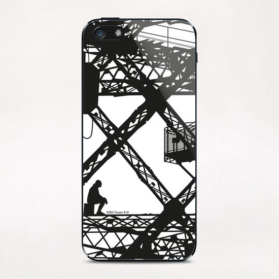 Eiffel tower #4 iPhone & iPod Skin by Denis Chobelet
