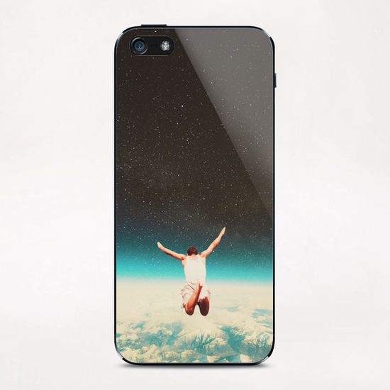 Falling With A Hidden Smile iPhone & iPod Skin by Frank Moth