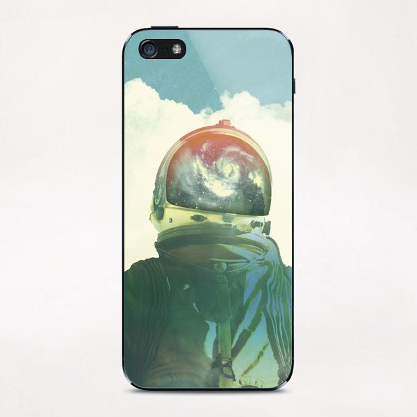 God is an astronaut iPhone & iPod Skin by lacabezaenlasnubes