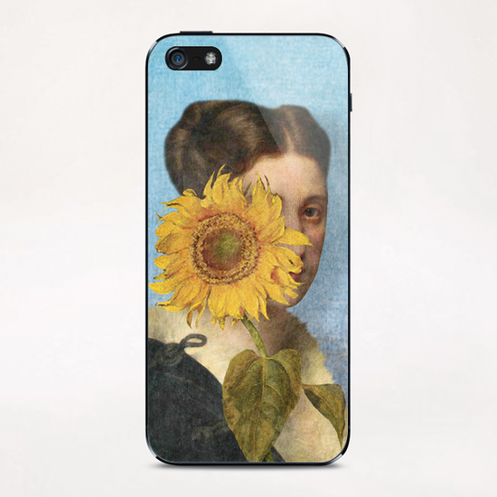 Girl with Sunflower 2 iPhone & iPod Skin by DVerissimo