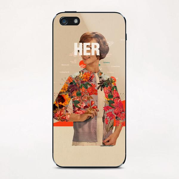 Her iPhone & iPod Skin by Frank Moth