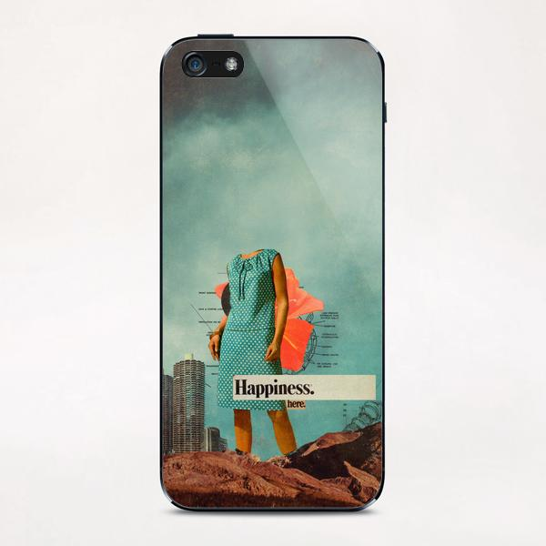 Happiness Here iPhone & iPod Skin by Frank Moth