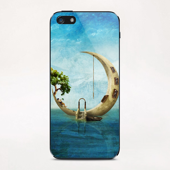 Home Sweet Moon iPhone & iPod Skin by DVerissimo