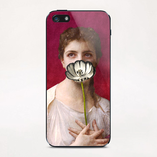 Lady with Tulip iPhone & iPod Skin by DVerissimo
