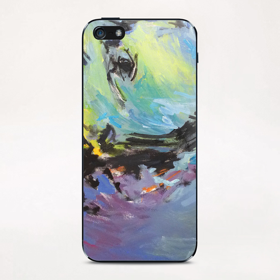 Lion Diptych - Left iPhone & iPod Skin by Georgio Fabrello