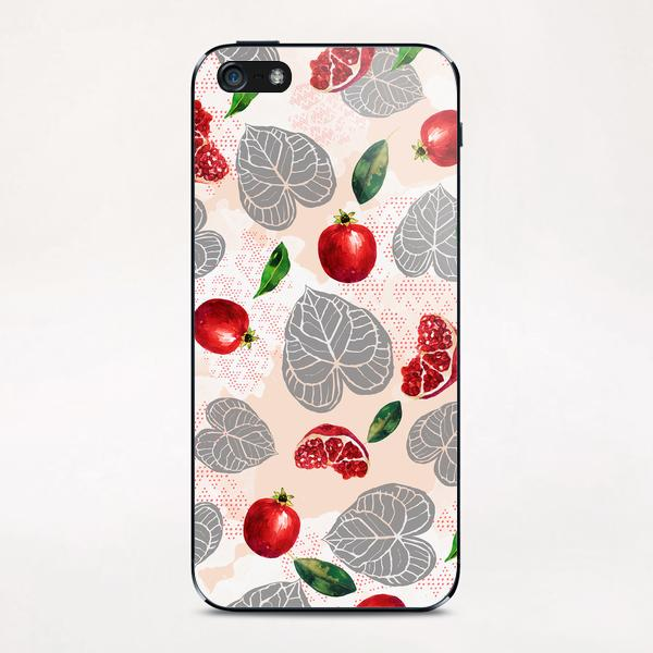 Love leaves with fruits iPhone & iPod Skin by mmartabc