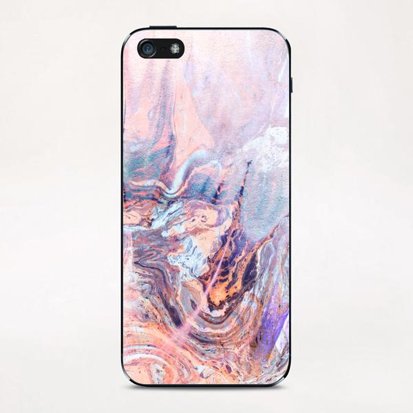 Multicolored saturated marble iPhone & iPod Skin by mmartabc