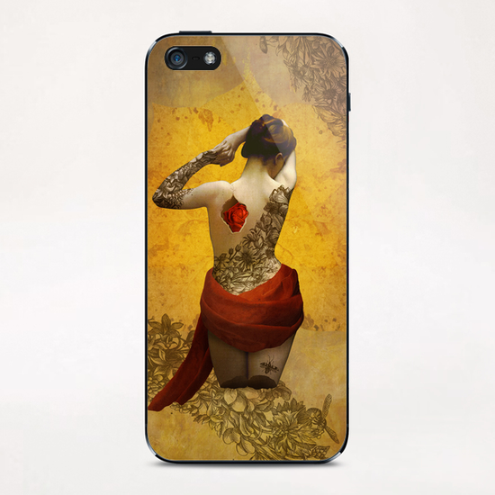 My Heart The Rose iPhone & iPod Skin by DVerissimo