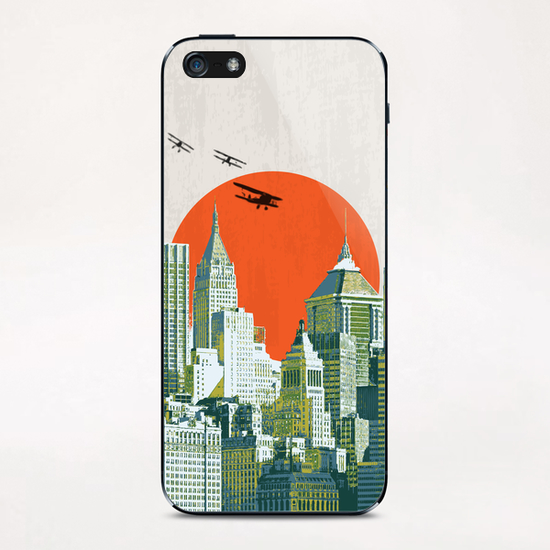 Red sun on NY iPhone & iPod Skin by tzigone