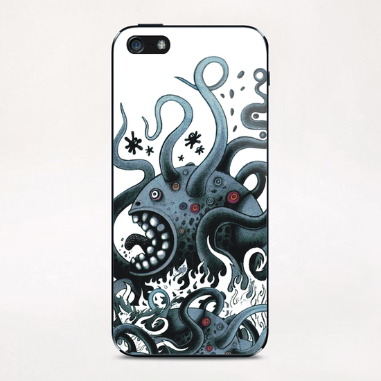 Octoworm (blue version) iPhone & iPod Skin by Exit Man