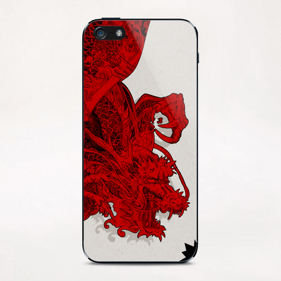 RED DRAGON iPhone & iPod Skin by sagi.art