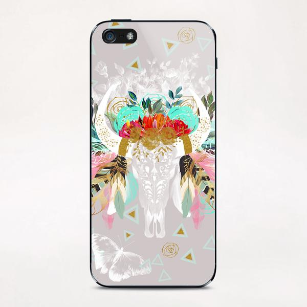 Skull fantasy boho iPhone & iPod Skin by mmartabc