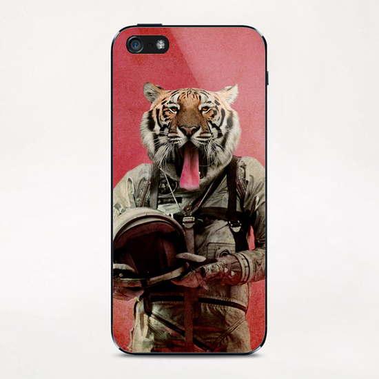 Space tiger iPhone & iPod Skin by durro art