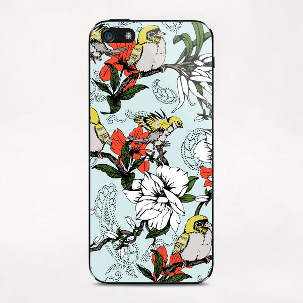 The Birds and the Paisley Garden iPhone & iPod Skin by mmartabc