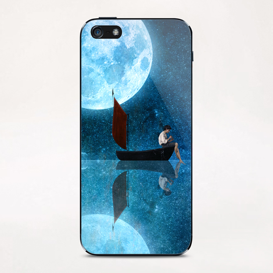 The Moon And Me iPhone & iPod Skin by DVerissimo