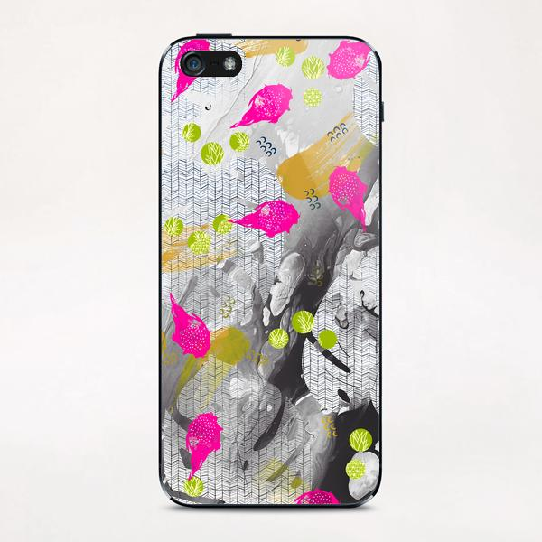 Tropical marble abstract iPhone & iPod Skin by mmartabc