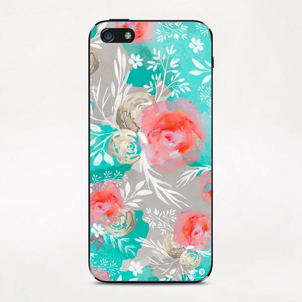 Watercolor Flourish iPhone & iPod Skin by mmartabc