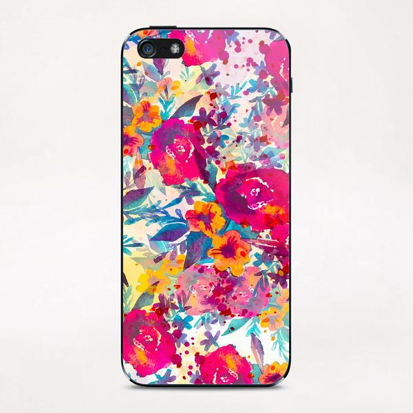 Watercolor flowers and plants 02 iPhone & iPod Skin by mmartabc