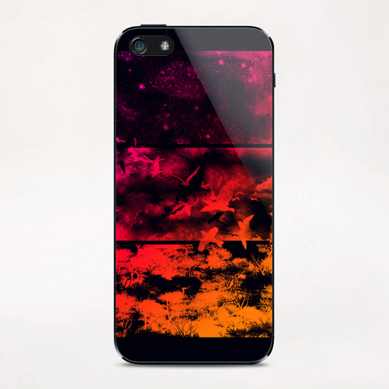 Across The Atmosphere iPhone & iPod Skin by Tobias Fonseca