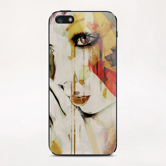 Abstract Portrait - Pages iPhone & iPod Skin by Galen Valle