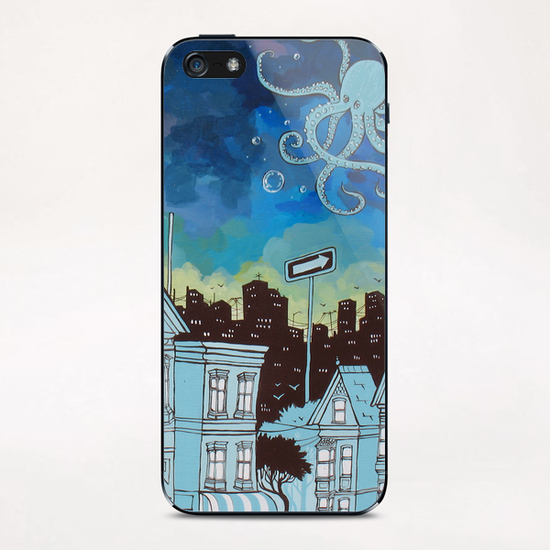 Beneath the Ocean Sky iPhone & iPod Skin by Ursula X Young