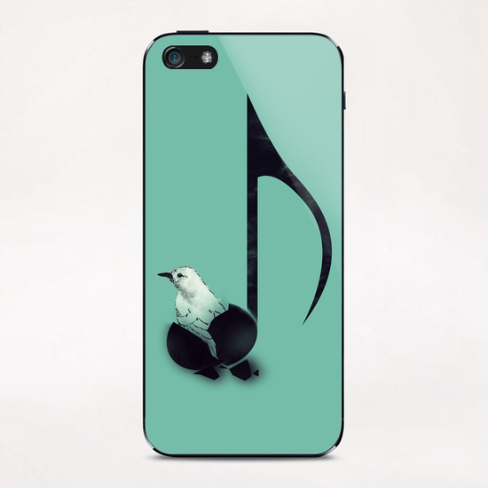 Born To Sing iPhone & iPod Skin by Tobias Fonseca