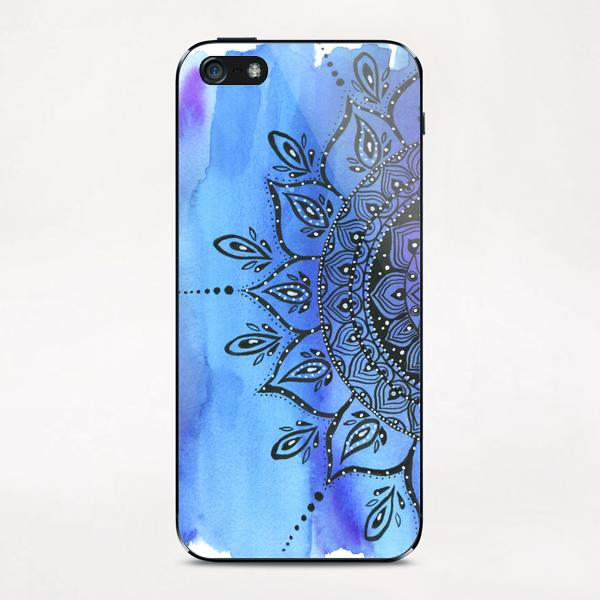 Blue Mandala iPhone & iPod Skin by Li Zamperini