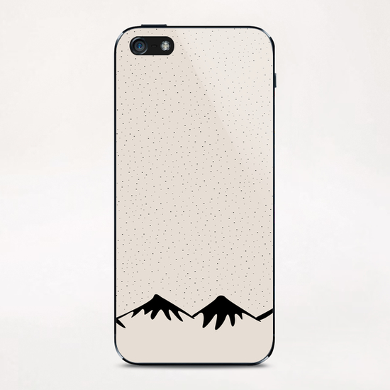 Snow and mountain by PIEL iPhone & iPod Skin by PIEL Design