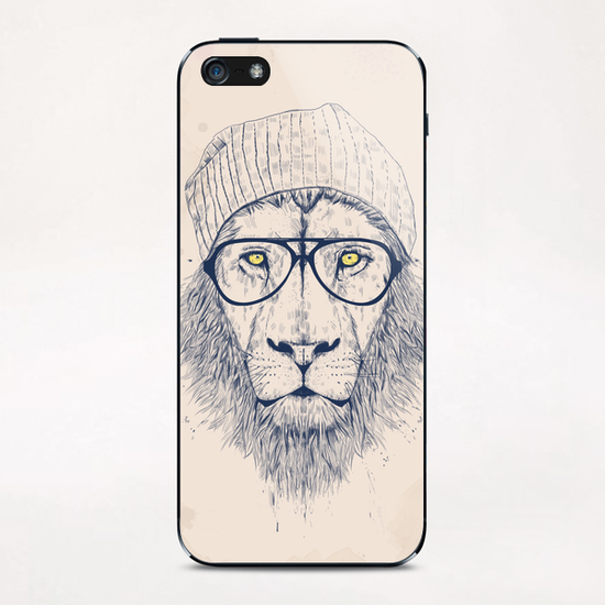 Cool lion iPhone & iPod Skin by Balazs Solti