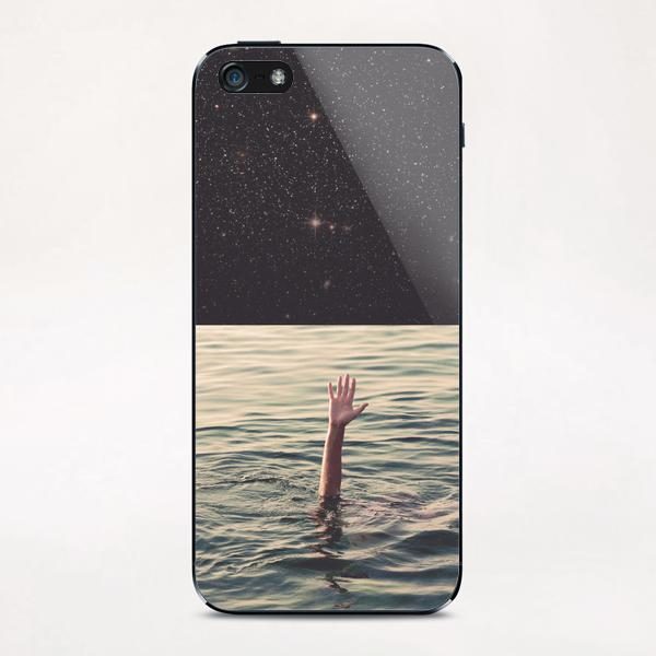 Drowned in space iPhone & iPod Skin by lacabezaenlasnubes