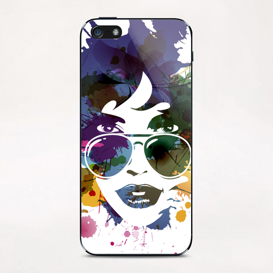 Femme à Lunettes... iPhone & iPod Skin by Vic Storia