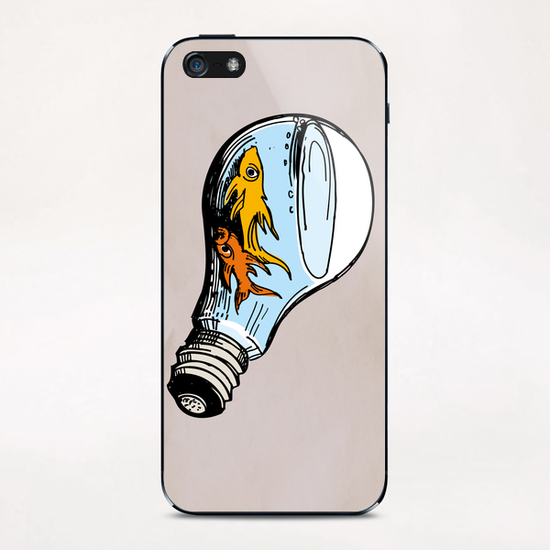 Fishes-Bulb iPhone & iPod Skin by Georgio Fabrello