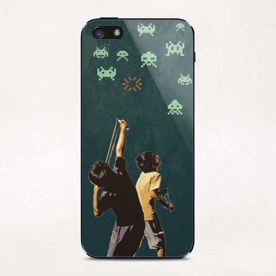 Invaders! iPhone & iPod Skin by tzigone