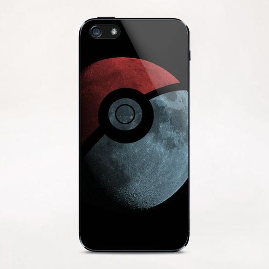 Poke Moon iPhone & iPod Skin by Tobias Fonseca