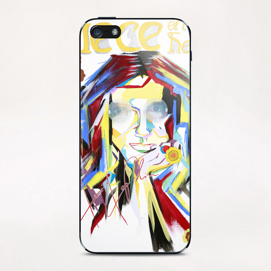 piece of my heart iPhone & iPod Skin by frayartgrafik