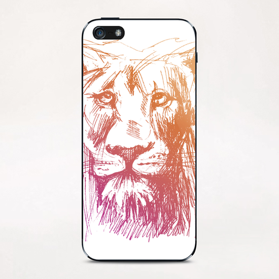 Lion iPhone & iPod Skin by Georgio Fabrello