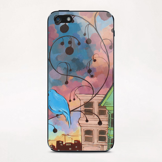 Lone Bird Prophecy iPhone & iPod Skin by Ursula X Young