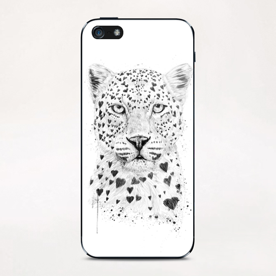 Lovely leopard iPhone & iPod Skin by Balazs Solti
