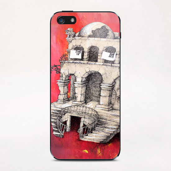 La Maison Visage iPhone & iPod Skin by Georgio Fabrello