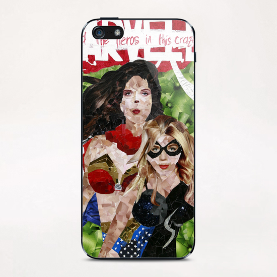 need the heros in this crazy world iPhone & iPod Skin by frayartgrafik