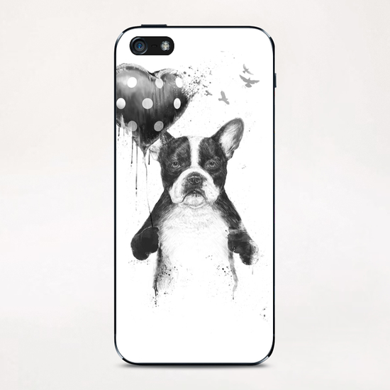 My heart goes boom iPhone & iPod Skin by Balazs Solti